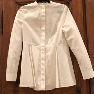 SZ 6 COS covered button front cotton shirt